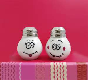 Cute Salt And Pepper Shakers Funny And Cute Salt Amp Pepper Shaker Little Light Bulb Shape