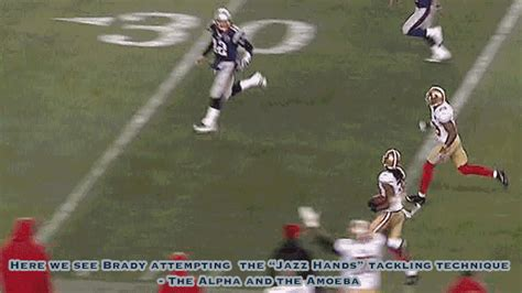 door flies open here we door flies open here we see brady attempting the jazz