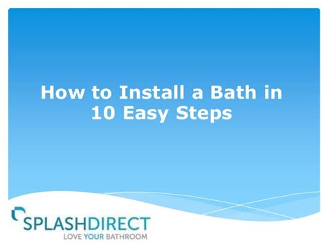 how to avoid my in ten simple steps pocket edition books how to install a bath in 10 easy steps