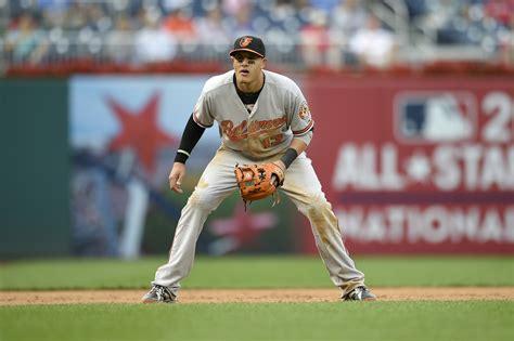 manny machado swing orioles third baseman manny machado wins second career