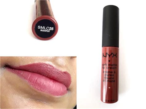nyx matte lip gloss review nyx soft matte lip budapest review swatches