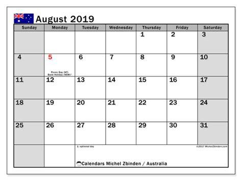 calendars august  public holidays australia michel zbinden en