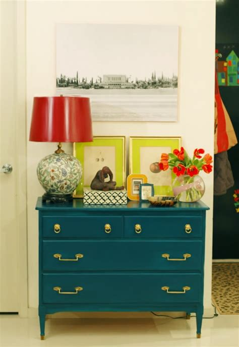 Colorful Entryway Table Remodelaholic 25 Ways To Decorate A Console Table