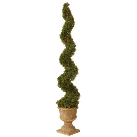 artificial decorative trees for the home national tree company 60 in upright juniper artificial spiral tree with decorative urn lcysp4