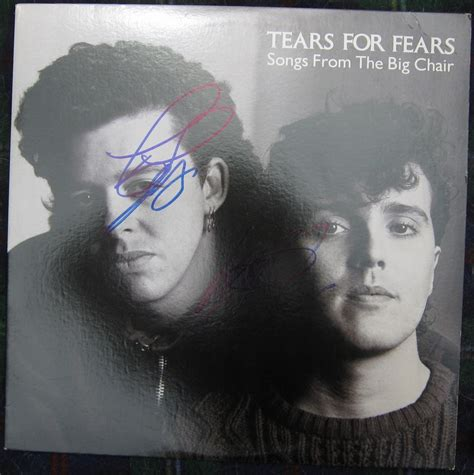 Songs From The Big Chair by Tears For Fears Signed Quot Songs From The Big Chair Quot Lp