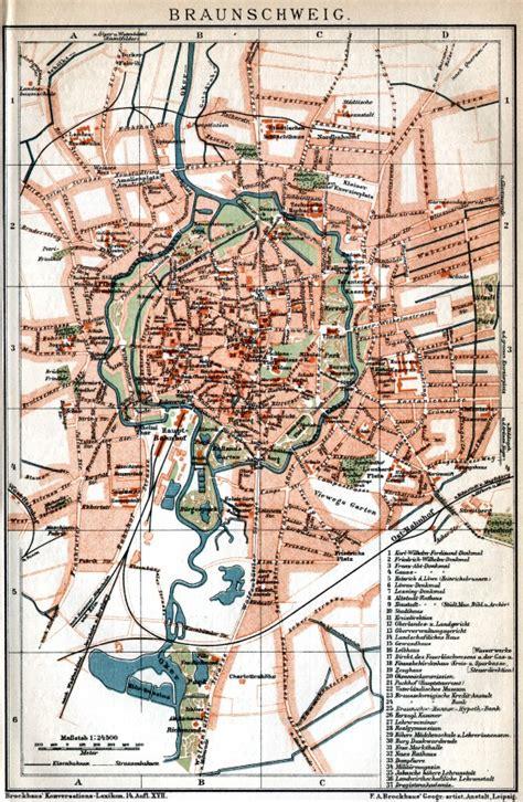 deutschland braunschweig historische landkarten