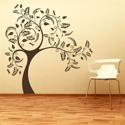 large tree template for wall large tree wall sticker removable vinyl uk