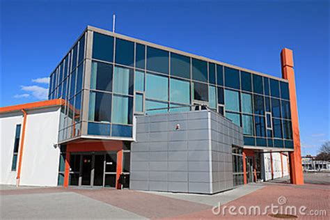 modern warehouse design modern warehouse and office building royalty free stock