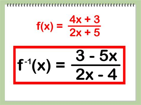 Www Find How To Find The Inverse Of A Function 4 Steps With Pictures