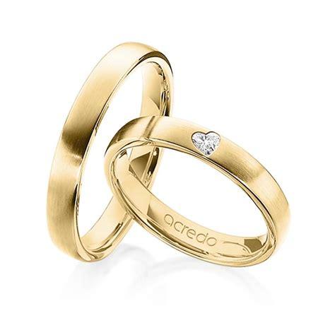 Trauringe Gelbgold by Trauringe Gelbgold 585 Mit 0 08 Ct Tw Vs Juwelier