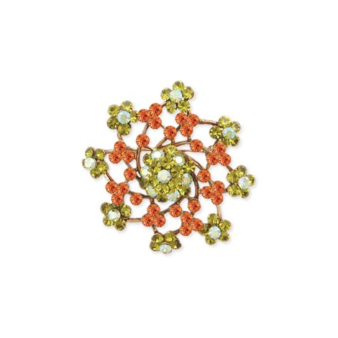 Rhinestone Floral Brooch wholesale rhinestone floral brooch zad fashion costume