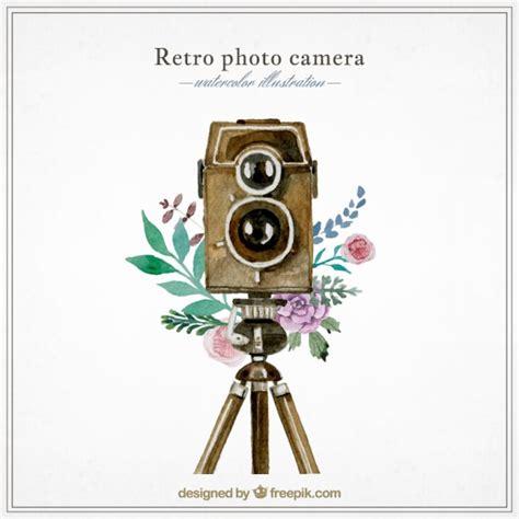 imagenes retro descargar c 225 mara de fotos retro de acuarela descargar vectores gratis
