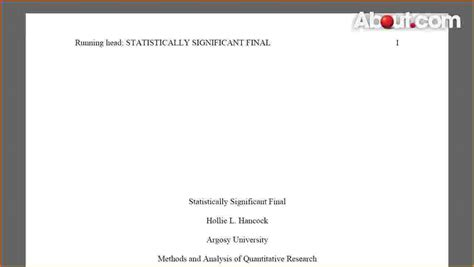 apa cover page template report title page sle research report illustrates