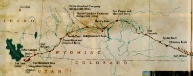 map of the mormon trail pioneer pinterest