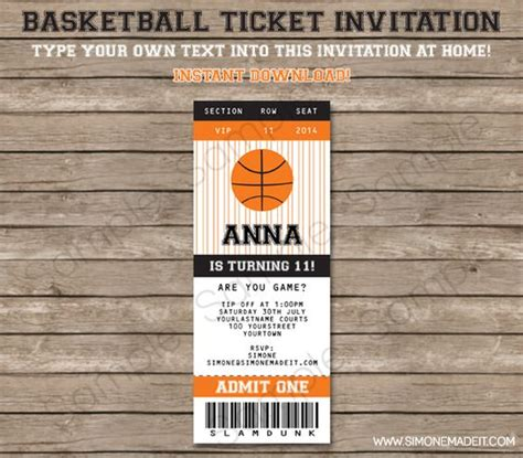 Pinterest The World S Catalog Of Ideas Basketball Ticket Template Free