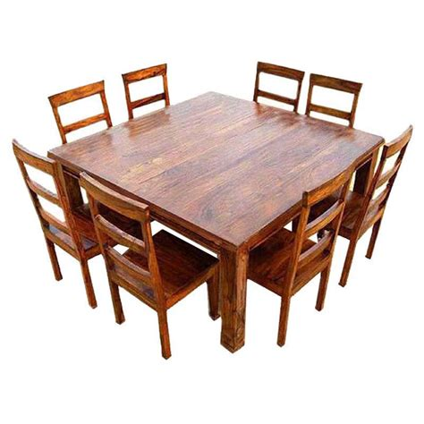 square dining table with chairs appalachian wood rustic square 9pc dining table and chair