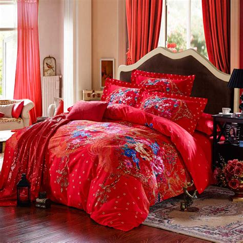 red floral comforter red floral print bed sets ebeddingsets
