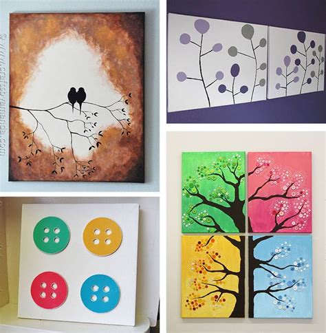 diy canvas crafts diy canvas wall ideas 30 canvas tutorials