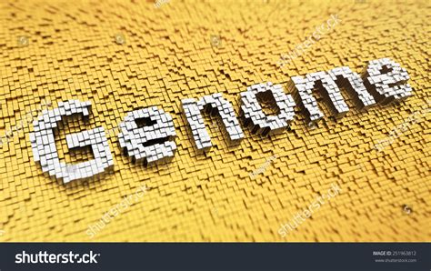 mosaic pattern in genetics pixelated word genome made cubes mosaic stock illustration