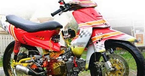 Lu Hid Motor Smash foto gambar modifikasi motor suzuki smash new racing road race rider terbaru curan