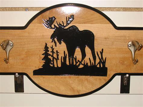 moose silhouette coat rack