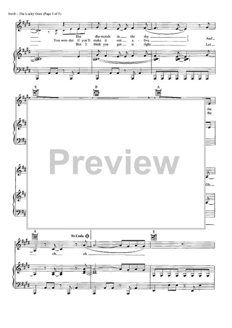 taylor swift chords lucky one the lucky one sheet music music for piano and more