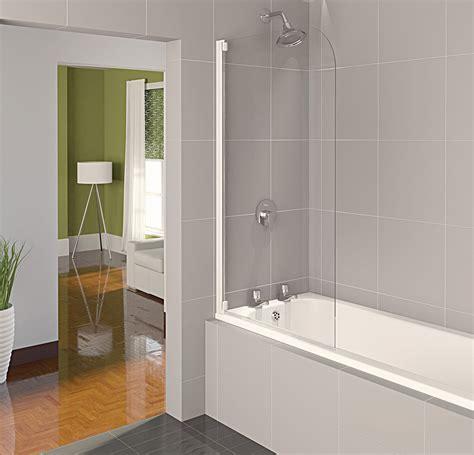 bathtub half glass panel aqualux aqua 4 half frame bath screen white clear glass