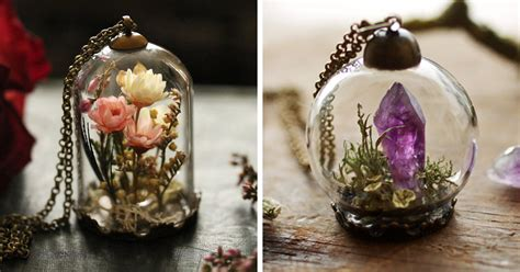Terrarium Jewelry by Terrarium Jewelry That Holds A Tiny Piece Of Nature In A Glass