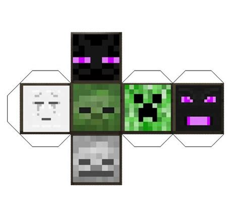 Papercraft Dice - minecraft papercraft mob die minecraft