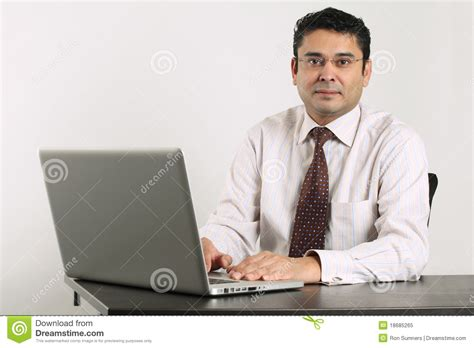 indian work indian businessman working on laptop stock image image