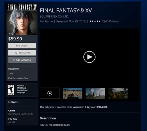 xv ps4 file size revealed on official ps store