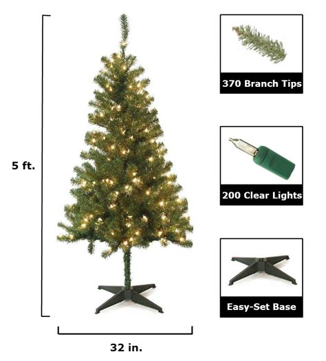 home accents holiday 5 ft wood trail pine artificial
