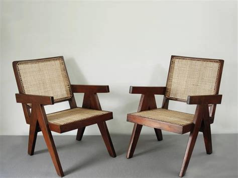 Easy Armchairs by Pair Of Easy Armchairs By Jeanneret At 1stdibs