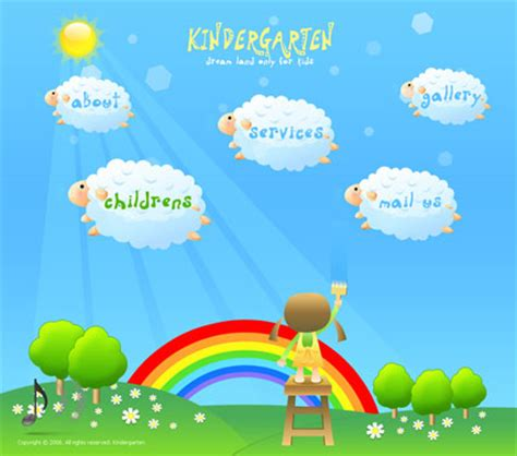 free preschool powerpoint templates kindergarten flash website template best website templates