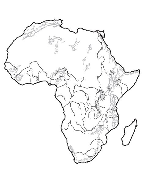 Blank Outline Of Africa by Unit 5 Mr Geography For