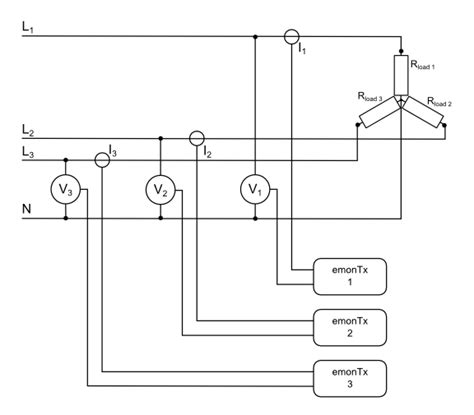 3 phase 4 wire diagram of energy meter 3 phase wiring