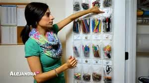 school supply organization how to organize small supplies at home alejandra tv