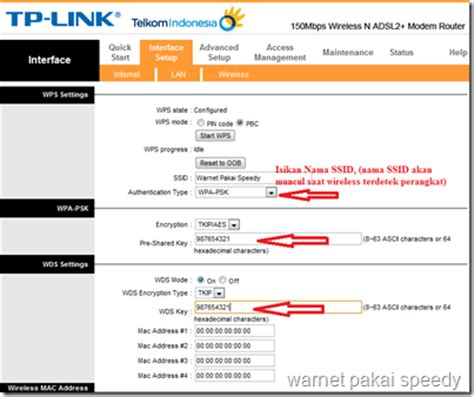 setting modem adsl2 tp link td w8951nd sebagai wireless access point wap jatibarang