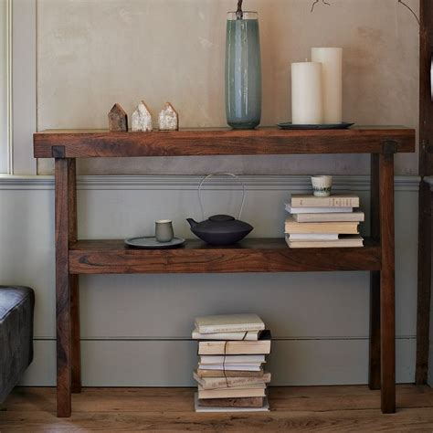 Rustic Acacia Console West Elm For The Home Pinterest West Elm Sofa Table