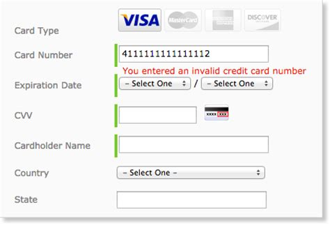 Credit Card Format Error Credit Card Cvv Format Infocard Co