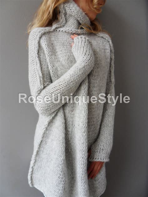 Sweater Switer Like To Oversized Handmade Chunky Knit Sweater
