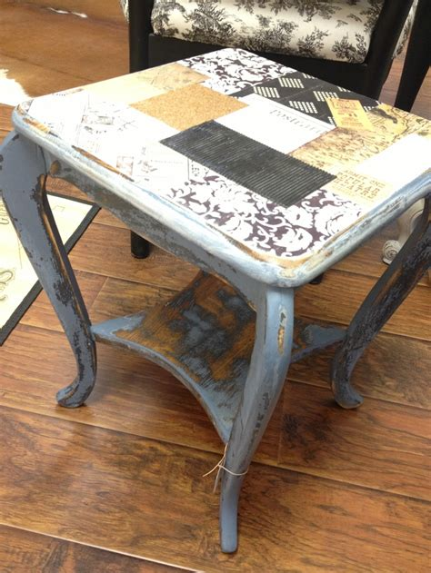 Decoupage Desk Top - decoupaged table top artsy beautsy craftsy eatsy