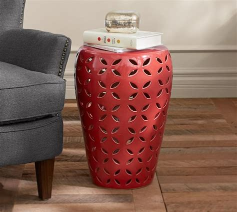 kiley ceramic stool pottery barn