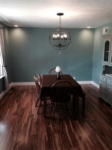 Our Dining room has Sherwin Williams Calico Paint on the