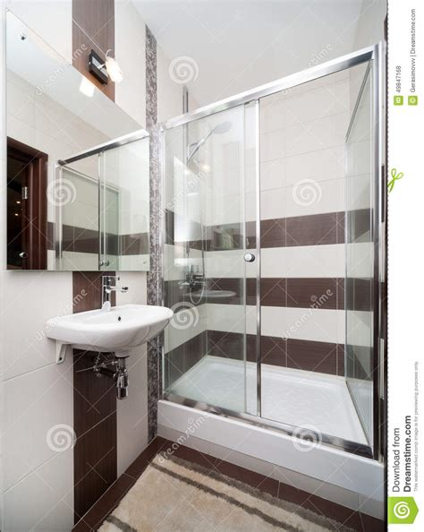 badezimmerdusche designs bilder modern small bathroom stock photo image 49847168