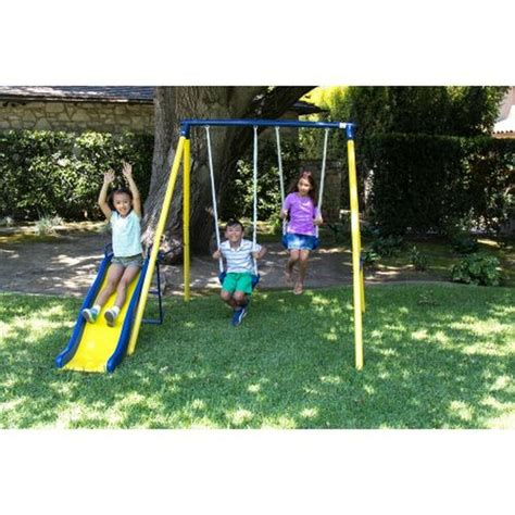 playground swing sets sportspower power play time metal swing set outdoor