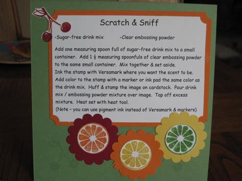 How To Make Scratch And Sniff Paper - 1000 images about cards tech scratch n sniff on