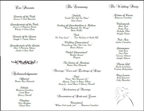 wedding reception program template template design