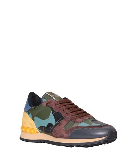 valentino sneakers lyst valentino rockrunner camouflage sneakers in blue