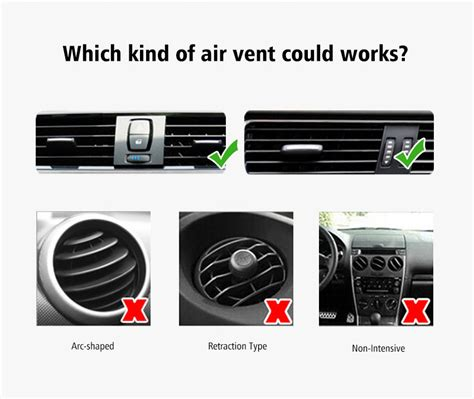 Ac Car Holder U Type Universal ugreen 360 rotation universal car air vent mount holder